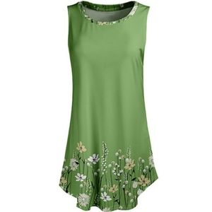 LILY GREEN & WHITE FLORAL TUNIC - 3X